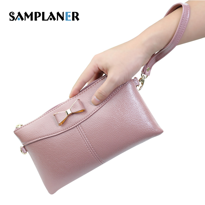 Samplaner Cute Bow Women Bag PU Leather Handbag Women's Shoulder Crossbody Bags for Ladies Small Clutch Purse Bags Girl Clutches jooz brand luxury belts solid pu leather women handbag 3 pcs composite bags set female shoulder crossbody bag lady purse clutch