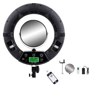 Image 2 - Yidoblo rgb app control ring light led vídeo luz beleza unha pele fotografia estúdio anel lâmpada + tripé + kit de bolsa