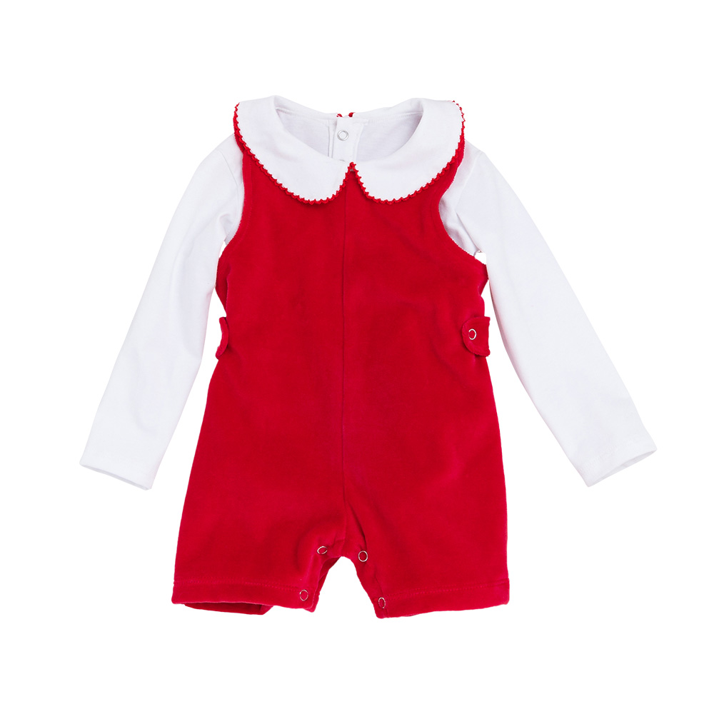 Solid Bebek Tulum Cotton Soft Long sleeve Baby Girl Clothes Cute Kids Baby Rompers 2pcs set Baby Jumpsuit Pullover Pajacyki in Rompers from Mother Kids