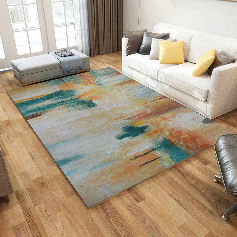 Abstract Art Living Room Carpet Home Decoration Rug Sofa Coffee Table Floor Mat Soft Carpet Bedroom Modern Study Nordic Rugs in Carpet from Home Garden
