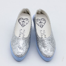 6.3cm Silver crystal Shoes For BJD doll shoes fit 50cm SD dolls shoes children gift doll accessories