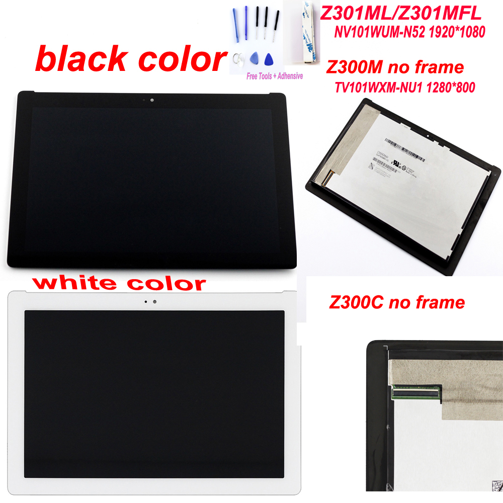 AAA Starde 10.1'' LCD for Asus ZenPad 10 Z300C P00C P023 Green Connector Z300M Z301ML Z301MFL Yellow Connector LCD Touch Screen