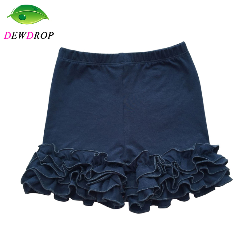 Cotton Ruffle Child Shorts Maroon Toddler Ladies Shorts Youngsters Knit Icing Child Woman Shorts Youngsters Garments Spring/summer season Shorties 1-9T