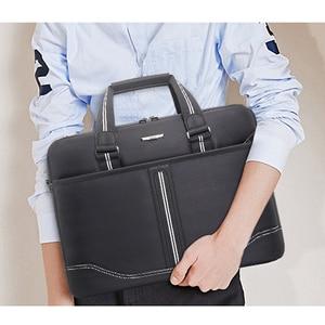 Image 3 - Business Oxford Men Briefcase 15.6 inch Laptop Handbags Mens Office Bags Multifunction Messenger BagComputer Work Bag