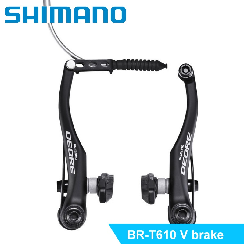 SHIMANO DEORE BR-T610 V Brake caliper Mountain Bike V-Brakes aluminum V Brake Bicycle Parts Bicycle BR T610 shimano deore br m590 v brake caliper mountain bike v brakes aluminum v brake bicycle parts bicycle br m590