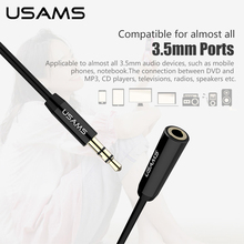 USAMS Aux Audio Extension Cable 3.5mm Jack Stereo Male to Female Lossless sound quality Phone Cable 1m 2m Earphone PC Extension