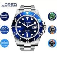 LOREO Mężczyźni Zegarki 2016 Najwyższej Jakości AAA Luksusowe Marki Two Tone AB2278 Mechaniczne Automatyczne Mężczyźni Wrist Watch Relogio Prezent Na Boże Narodzenie