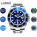 LOREO Men Watches 2016 Top Quality AAA Luxury Brand Two Tone Mechanical Automatic Men Wrist Watch Relogio Christmas Gift AB2278