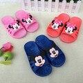 0-4 years Kids cartoon slippers  baby soft soled bath room slippers Children Anti-slip Shower Slippers free shipping