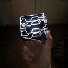 NieR Automata 9 S 2B คอสเพลย์ Props แสงสีขาวสีดำกล่อง YoRHa No.9 Type S เบอร์ 2 ประเภท B magic Cube
