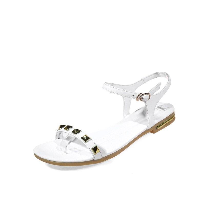 Bureau gray Livraison black white Famso Nouvelles Gratuite Appartements Designer En Sandales Chaussures Apricot Femmes 2018 Cuir Rivets Authentiques D'été I6bvY7gfy
