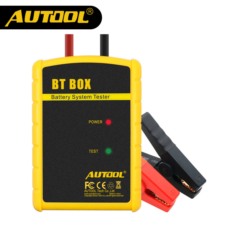 AUTOOL BT BOX 12V Battery Tester Multi-function Automotive Charge Cranking Analyzer Car Diagnostic Tool Same as BT360