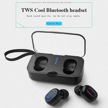 New Bluetooth 5.0 TWS Earphones Wireless Binaural True Twins Cordless Sports Dual Earbuds with Charing Box