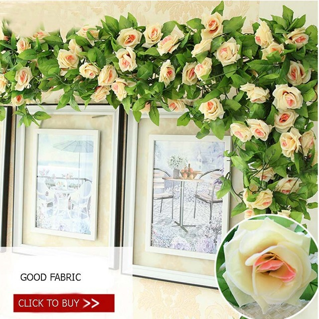 New Artificial Flowers China For Wall Decoration Rose Garland Plants