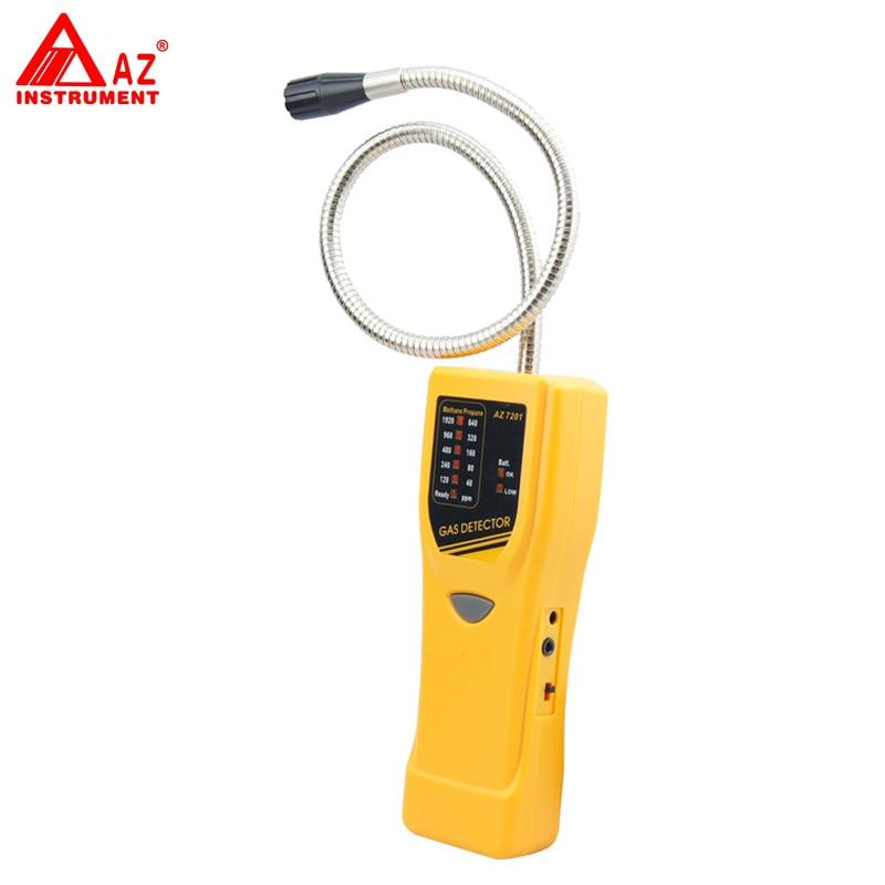 AZ-7201 Handheld Type Propane Gas Leakage Tester ,Methane Gas Leak Detector Tester promotion uyigao ua6070a brand new handheld portable automotive mini halogen gas leakage detector chlorine and fluorine teste