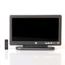 Dollhouse Miniature Widescreen Flat Panel LCD TV con control remoto gris