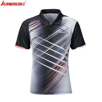 Oryginalne marki Kawasaki nowe męskie koszule kołnierzykowe z krótkim rękawem szybkie suche poliestrowe damskie koszulka do gry w tenisa odzież sportowa dla pary tanie i dobre opinie Skręcić w dół kołnierz Poliester WOMEN Pasuje prawda na wymiar weź swój normalny rozmiar ST-S1106 Turn Down