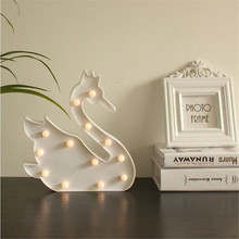 Swan Shape LED Night Light Lamp