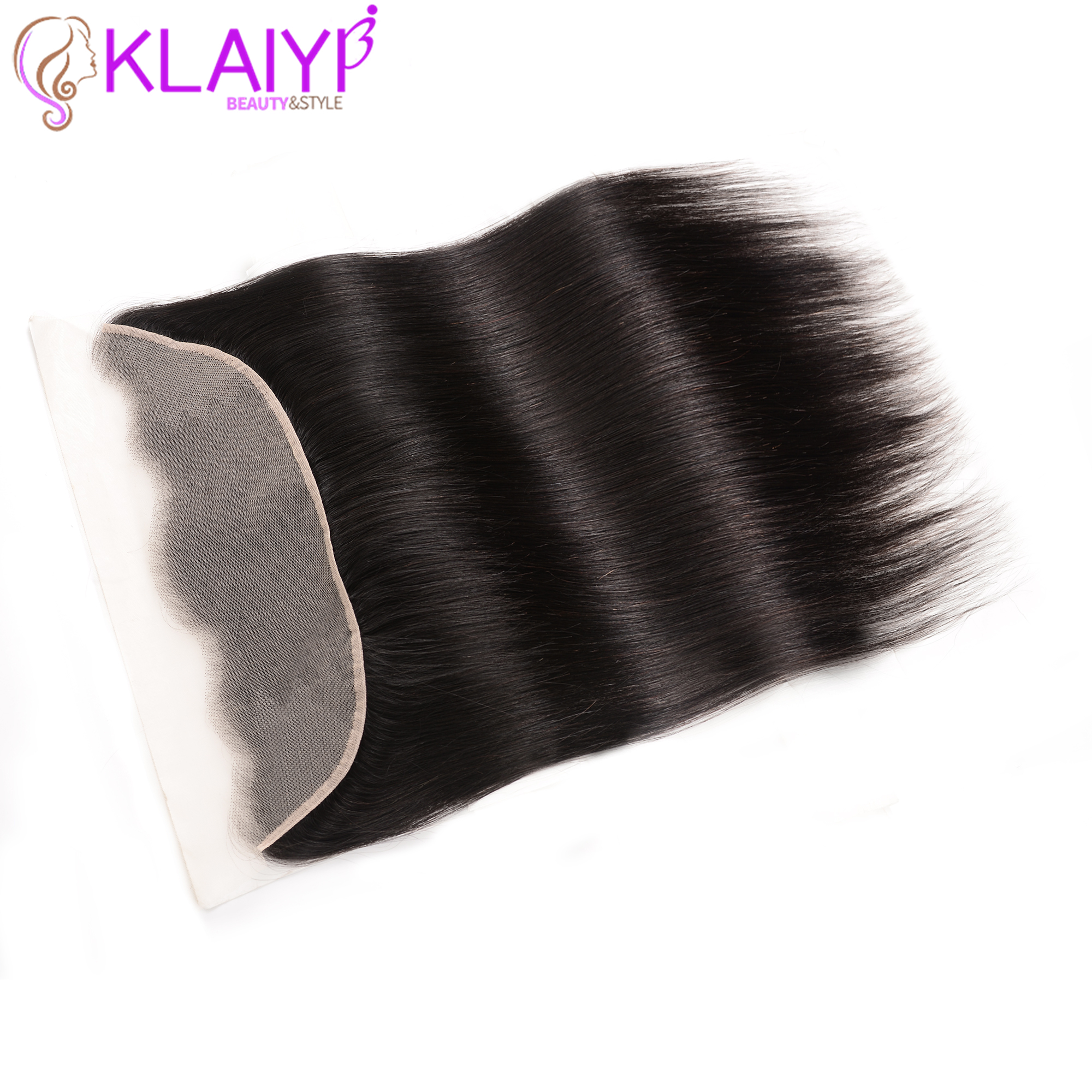 Klaiyi Hair Ear to Ear Transparent Lace Frontal Closure 13X4 Brazilian Straight Human Hair Free Part Remy Hair Frontal(China)