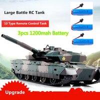 Remote Control RC Battle Tank Simulation recoil Military Tank 330 degree rotating turret 45 degree slope RC tank 2 color choose