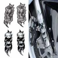 1 par Universal motocicleta bicicleta horquilla delantera calavera Zombie calcomanías gráficas Moto para Kawasaki Honda Yamaha Harley