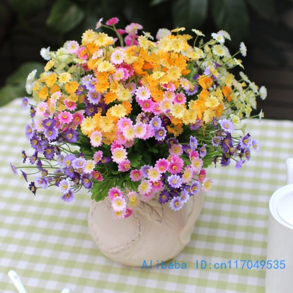 1 PCS Bouquet Beautiful Country style Artificial Mini Chrysanthemum ...