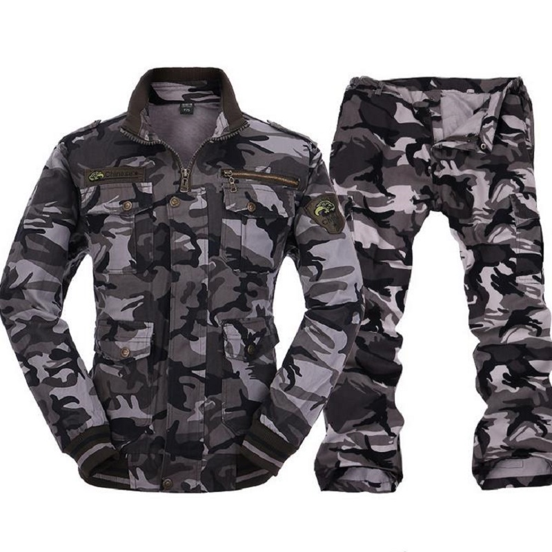 2018 new army fan suit suit tactical cotton twill camouflage suit sports outdoor wear and antistatic