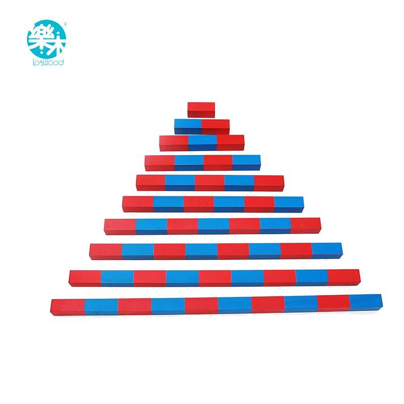 Bébé Jouet Petit Barres Numériques Montessori Mathématiques Apprentissage et L'éducation Classique Bois Enfants en bois bloc Jouets Famille Version