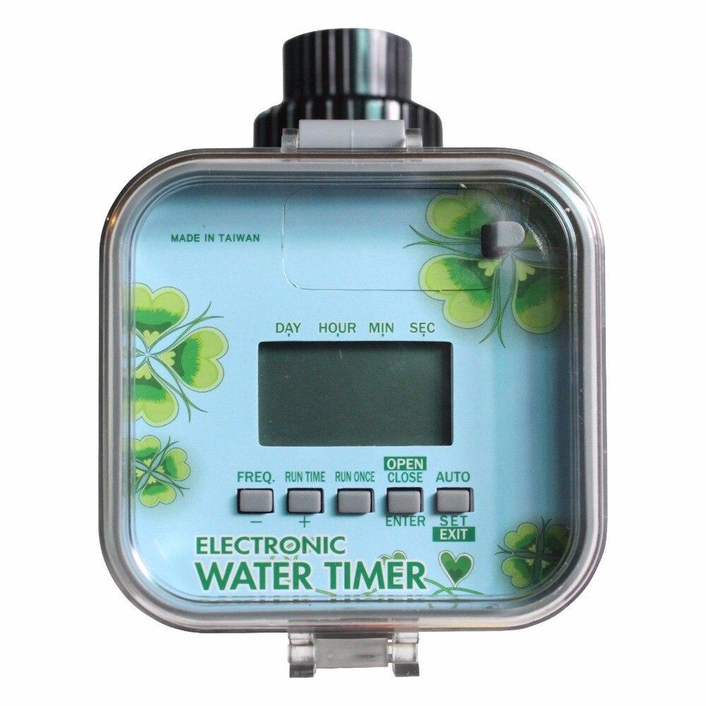Водонепроницаемый легкий ЖК-дисплей Электронный таймер для воды с солнечной подзарядкой, функция остановки дождя, Соленоидный клапан долгий срок службы экономии энергии