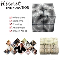 HINST Colorful Five Style Luxury EDC Infinity Cube Mini For Stress Relief Fidget Anti Anxiety Stress