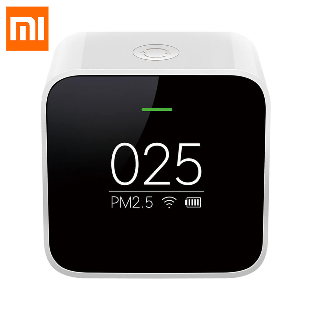 Original Xiaomi Mijia PM2.5 Detector Xiaomi Air Quality Tester OLED Screen Smart Sensor Adapt Mi Air Purifier Smart Control APP xiaomi mi smart air purifier 2nd gen hepa home air cleaner app control