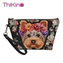 Thikin Cute Animals Makeup Bags for Women Girls Cosmetic Bag Travel Handbag Case Pouch Rock Storage Purse