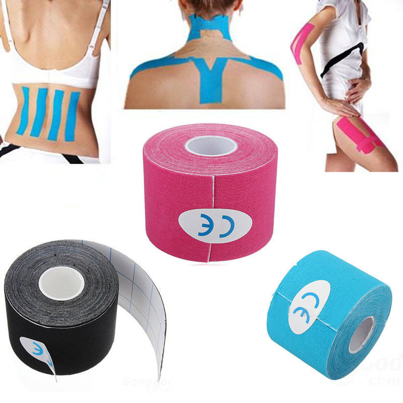 цены на 5mx5cm Waterproof Kinesio tape Athletic Kinesiology Tape Sport Taping Strapping Good Quality Football Knee Muscle Kinesio tape