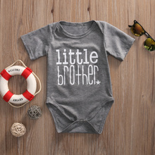 Big Sister and Brother Family Matching Outfits Infant Baby Little Brother Boy Romper Big Sister T-shirt Cotton Clothes Outfits