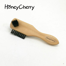 Three Hair Brush With A Handle Three Oiled Polishing Function pig hair Honeycherry shoes brush