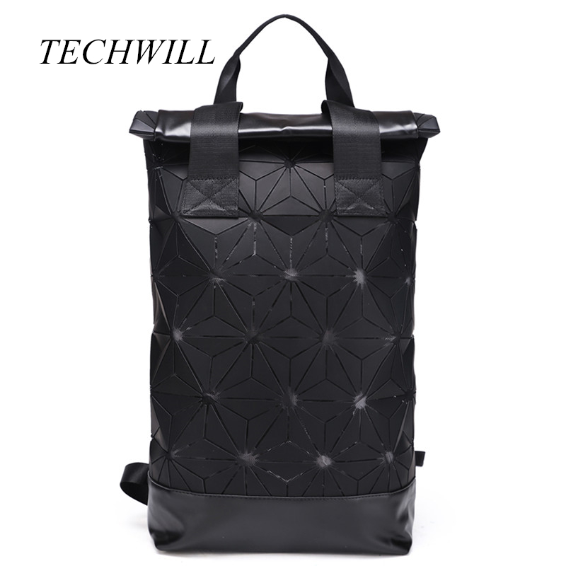 Hot Sale School Backpack Unsex Laser Backpack Geometric Shoulder Student's School Bag with Luminous Fabrics Support Wholesale women laser backpack geometric shoulder bag student s school bag luminous backpack laser sequins folding bags daily backpacks