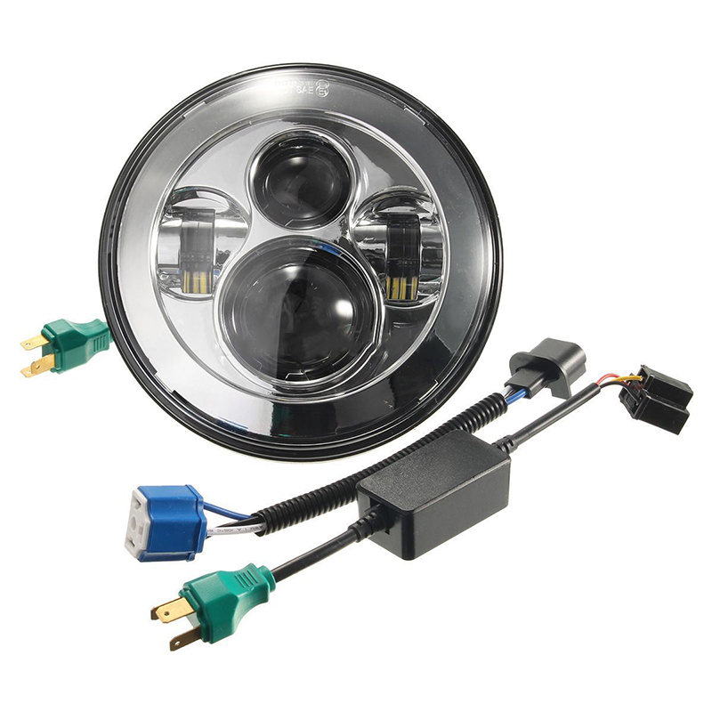 7 Chrome Round Projector HID Hi/Lo LED Headlight signal lights for Harley-Davidson
