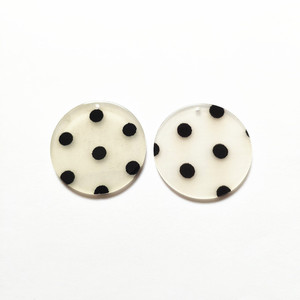 Image 3 - New arrival! 35mm 100pcs/lot clear acrylic coin shape charms for stud earrings/earrings accessories/Earring parts DIY