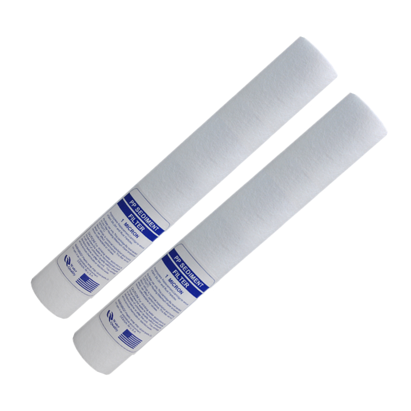 20-inch PPF COTTON FILTER 1 Micron PP Sediment Water Filter Cartridge For REVERSE OSMOSIS Commercial Water Purifier