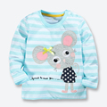 Spring Fall Baby Girls Tops Tees Cute Cartoon Mouse Children Clothes Cotton Long Sleeve Kids Girls T shirt 1-6 years Girls Wear