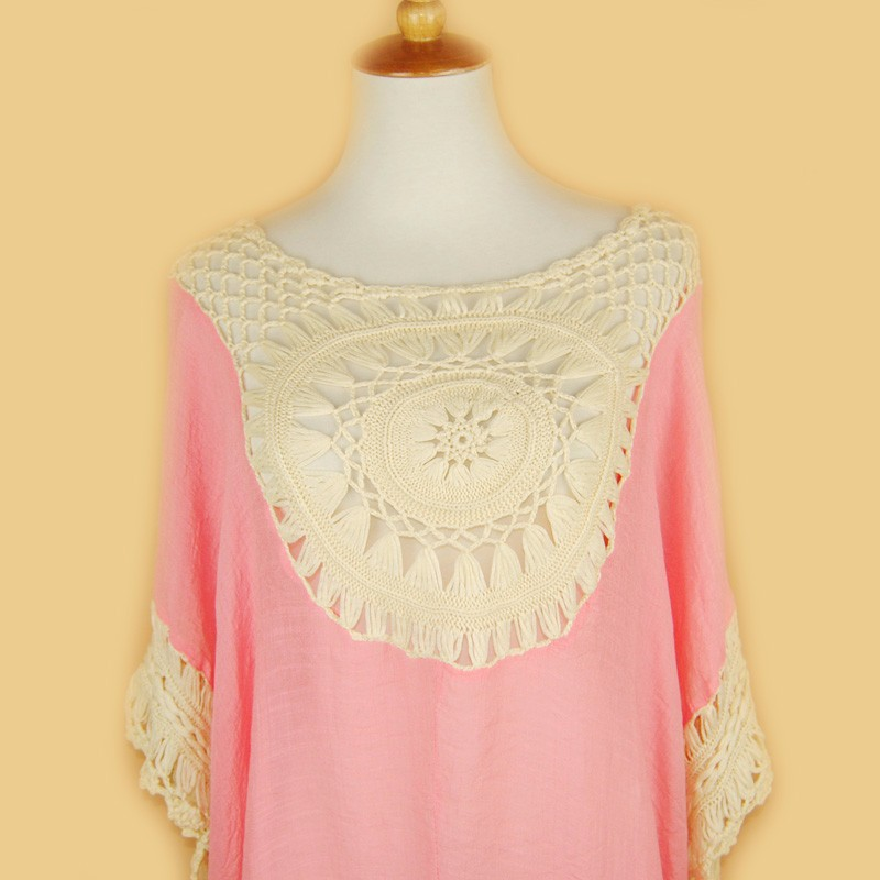 Lace Crochet Knitted Boho Shirt