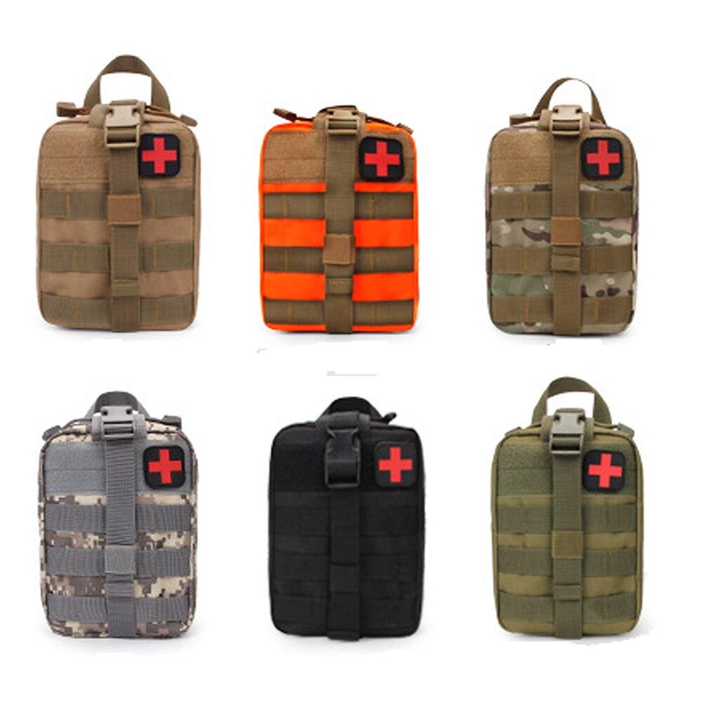 Kit de primeiros socorros médica tático saco utilitário de emergência pacote militar médica ao ar livre edc molle kit primeiros socorros para viagem caça