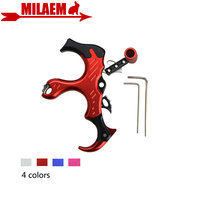 1pc Archery Compound Bow Release Thumb Caliper Trigger 3 Finger Grip Left/Right Hand Adjustable Hunting Shooting Accessories