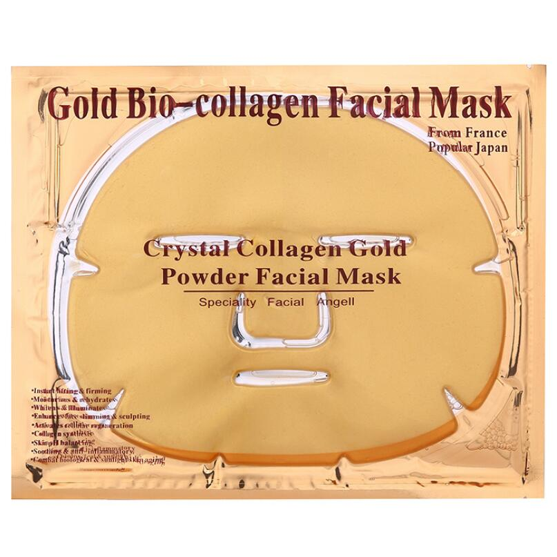 By DHL 50pcs lot Gold Mask Collagen Gold Powder Face Mask Anti Aging Anti Wrinkle Gold