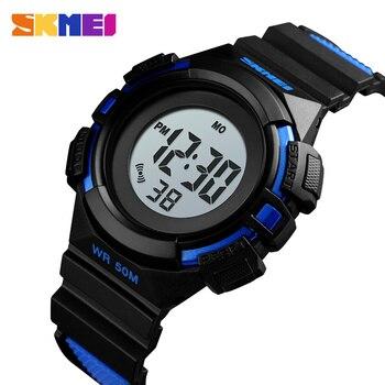 SKMEI новый спортивный стиль часы детские электронные цифровой дисплей детские часы Мода Мультфильм 50 м водонепроница часы 1485