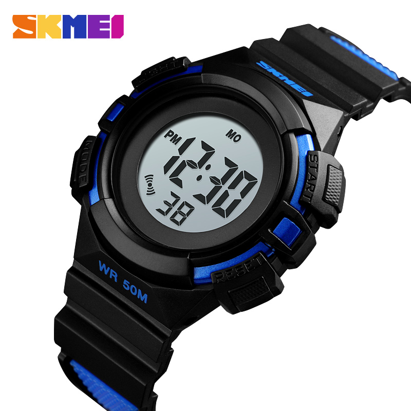 SKMEI Outdoor Sport Kids Watches Sports Digital Wristwatches Fashion Life Waterproof PU Wristband Children Watch Relogio 1485