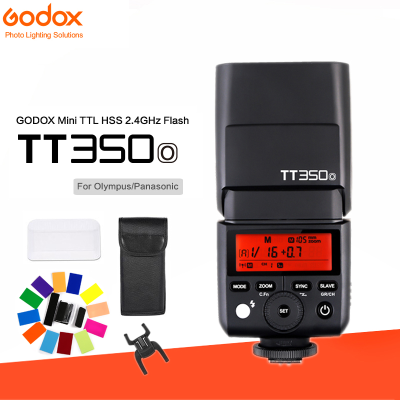 Godox Mini Speedlite TT350O Camera Flash TTL HSS GN36 for Olympus/Panasonic Mirrorless DSLR CameraGodox Mini Speedlite TT350O Camera Flash TTL HSS GN36 for Olympus/Panasonic Mirrorless DSLR Camera