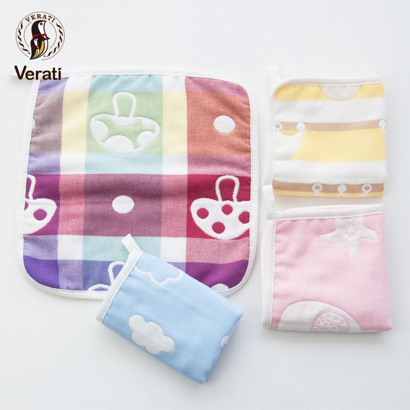 VERATI Six-layer Gauze Square Towel Baby Child Saliva Towel Newborn Baby Cotton Towel toallas No Fluorescence Kids Stuff V029