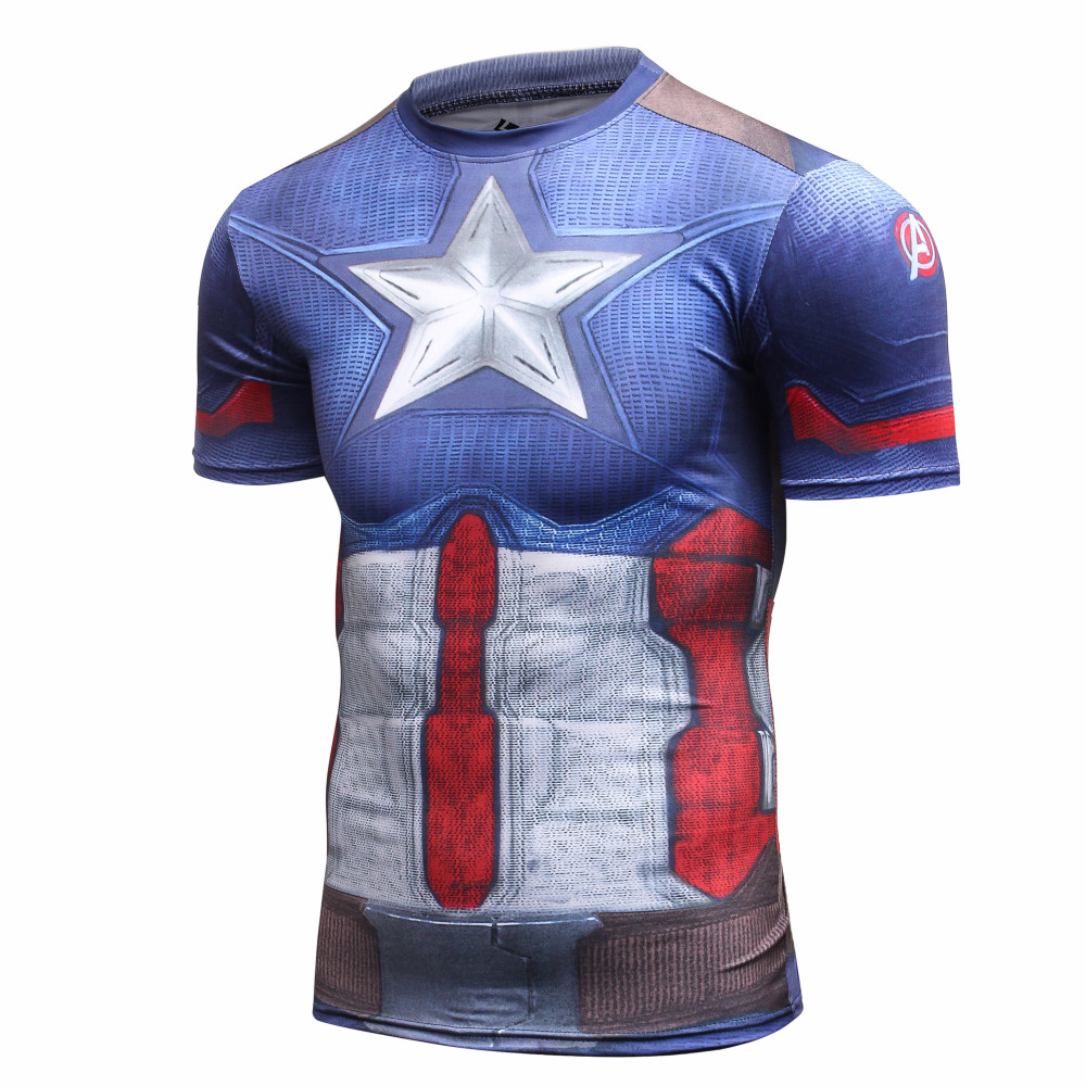 Mens Jungen Superman Kompression Armour Basisschicht Kurzarm Thermische Unter Top T-shirt Captain...