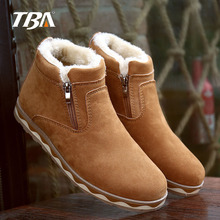 New Fashion Men Winter Shoes Solid Color Snow Boots Plush Inside Antiskid Bottom Keep Warm Waterproof Boots Ankle Snow Work shoe